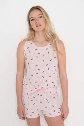 Ardene Flamingo Tank + Shorts PJ Set