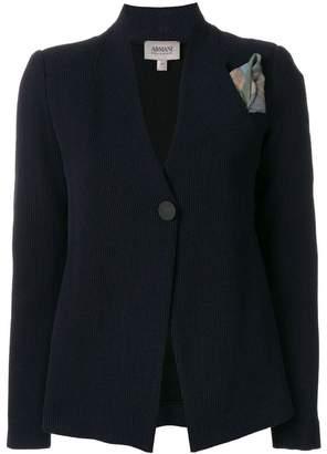Armani Collezioni printed button blazer