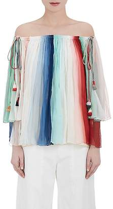 Chloé WOMEN'S SILK OFF-THE-SHOULDER BLOUSE