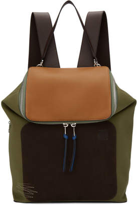 Loewe Khaki and Brown Goya Backpack
