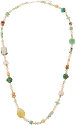 Nakamol Single-Strand Beaded Necklace, Blue/Cream