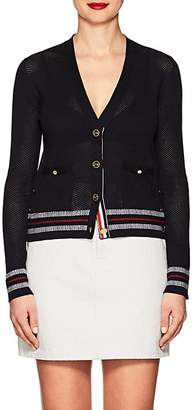 Thom Browne Women's Mesh-Knit Cotton Cardigan