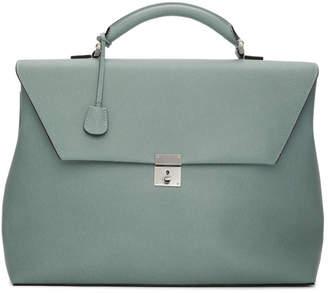Valextra Blue Luce Briefcase