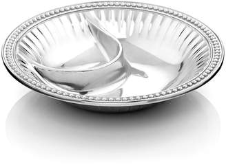 """Wilton Armetale Flutes and Pearls"""" Chip & Dip Bowl"""