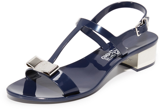 Salvatore Ferragamo Favilia Jelly City Sandals $295 thestylecure.com