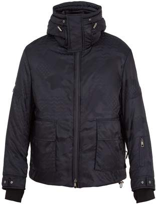 Neil Barrett Hooded high-neck camouflage ski jacket