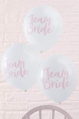 boohoo Ginger Ray Team Bride Slogan Balloon 10 Pck