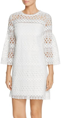 Laundry by Shelli Segal Lace Bell-Sleeve Dress $148 thestylecure.com