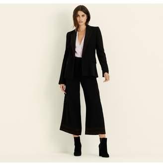 Amanda Wakeley Black Wool Crepe Jacket