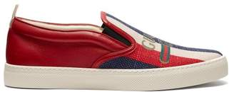 Gucci Sylvie Logo Slip On Trainers - Mens - Red Multi