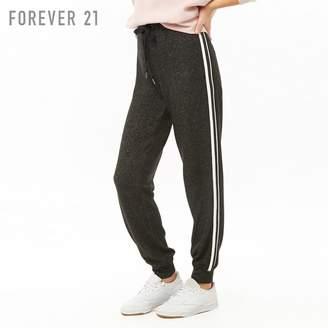 Forever 21 (フォーエバー 21) - Forever 21 コントラストサイドラインヘザージョガーパンツ