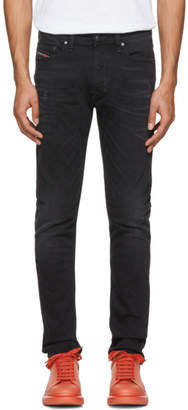 Diesel Black Washed Tepphar Jeans
