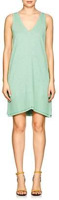 Lilla P WOMEN'S RIB-KNIT-TRIMMED COTTON-BLEND DRESS