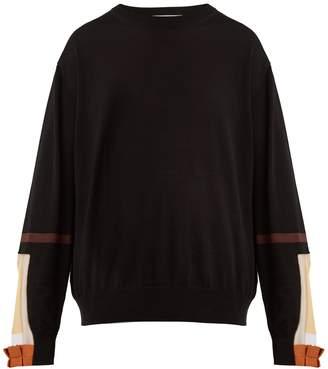 Toga Contrast-cuff cotton-blend sweater