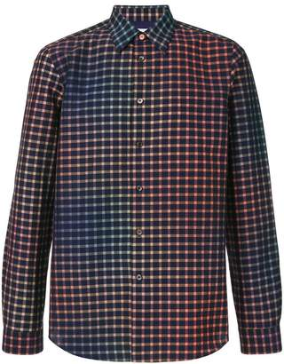 Paul Smith check gradient fitted shirt