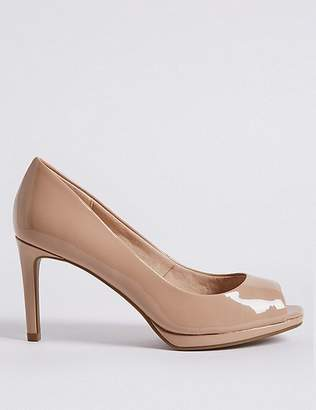 Marks and Spencer Stiletto Heel Platform Court Shoes