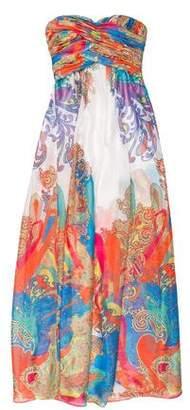 Aidan Mattox Strapless Maxi Dress