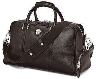 Aspinal of London Aerodrome 48 Hour Mission Bag In Dark Brown Pebble