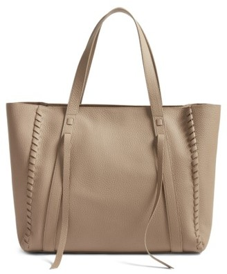 Allsaints Raye Leather Tote - Grey $378 thestylecure.com