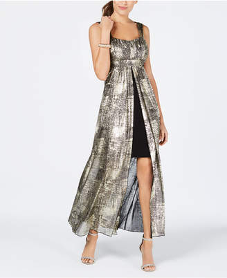 Connected Printed Flyaway Maxi Dress