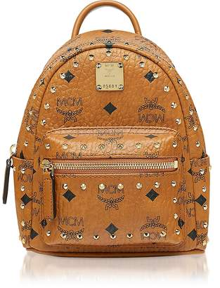 MCM Studded Outline Visetos Stark Bebe Boo X-Mini Backpack