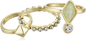 French Connection 3 Set Double Stone Stackable Ring