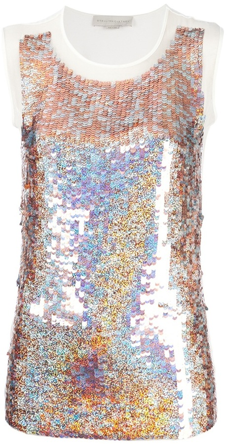 Stella McCartney iridescent sequined top