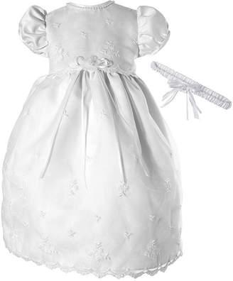 Keepsake Christening Short Sleeve Puffed Sleeve Babydoll Dress - Baby Girls