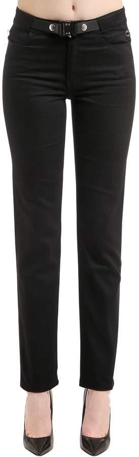 Enge Jeans Aus Stretch-Denim Mit Gürtel