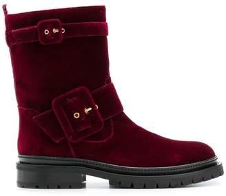 L'Autre Chose double-buckle ankle boots