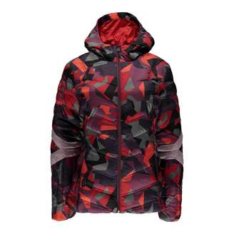 Women's Red Camo Geared Synthetic Down Jacket