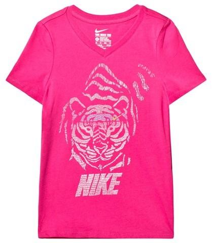 NIKE Pink Tiger Print Training Tee