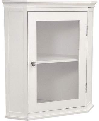 Elegant Home Fashions Classy Collection Corner Wall Cabinet, White