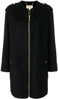 MICHAEL Michael Kors collarless zip-up coat