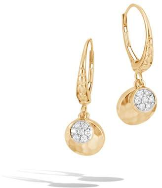 John Hardy Hammered Drop Earring With Diamonds