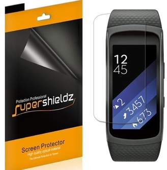 Samsung [6-Pack] Supershieldz Gear Fit 2 Pro Screen Protector, [Full Screen Coverage] Anti-Bubble High Definition (HD) Clear Shield