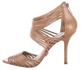Michael Kors Leather Cage Sandals