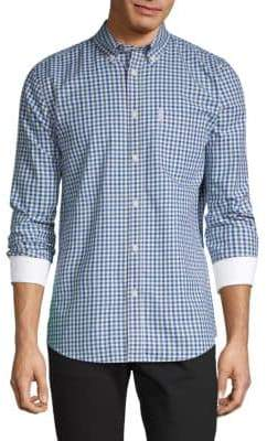 Ben Sherman Gingham Button-Down Cotton Shirt