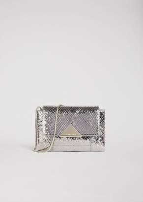 Emporio Armani Mini-Bag In Laminated Leather With Lizard Print
