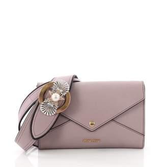 Miu Miu Madras Purple Leather Handbag