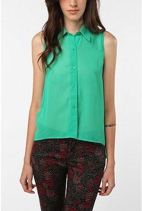 Sparkle & Fade Sleeveless Chiffon Shirt