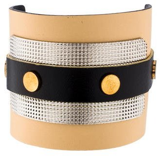 Balenciaga  Balenciaga Leather Studded Cuff