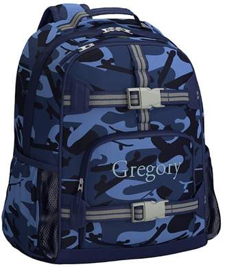 Pottery Barn Kids Mackenzie Blue Skateboard Camo Lunch Bag