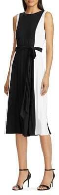 Lauren Ralph Lauren Color-Blocked Midi Dress