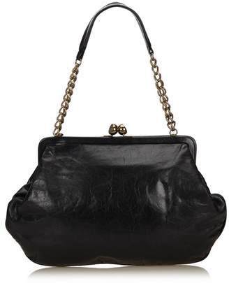 Chanel Vintage Leather Chain Shoulder Bag