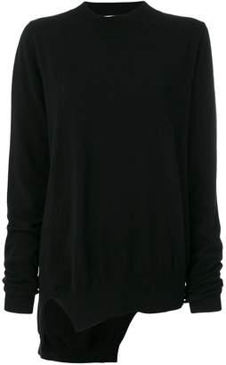 Jil Sander asymmetric knitted jumper