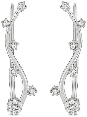 FINE JEWELRY 1/6 CT. T.W. White Diamond Sterling Silver Ear Climbers