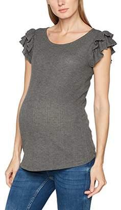 Mama Licious Mamalicious Women's Mljolie S/s Jersey Rib Top Vest,(Manufacturer Size: Small)