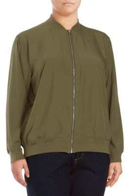 Vince Camuto Plus Soft Bomber Jacket