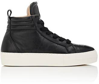 Helmut Lang Women's Leather Platform High-Top Sneakers $495 thestylecure.com